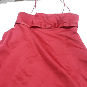 David's Bridal burgundy formal dress style 8585